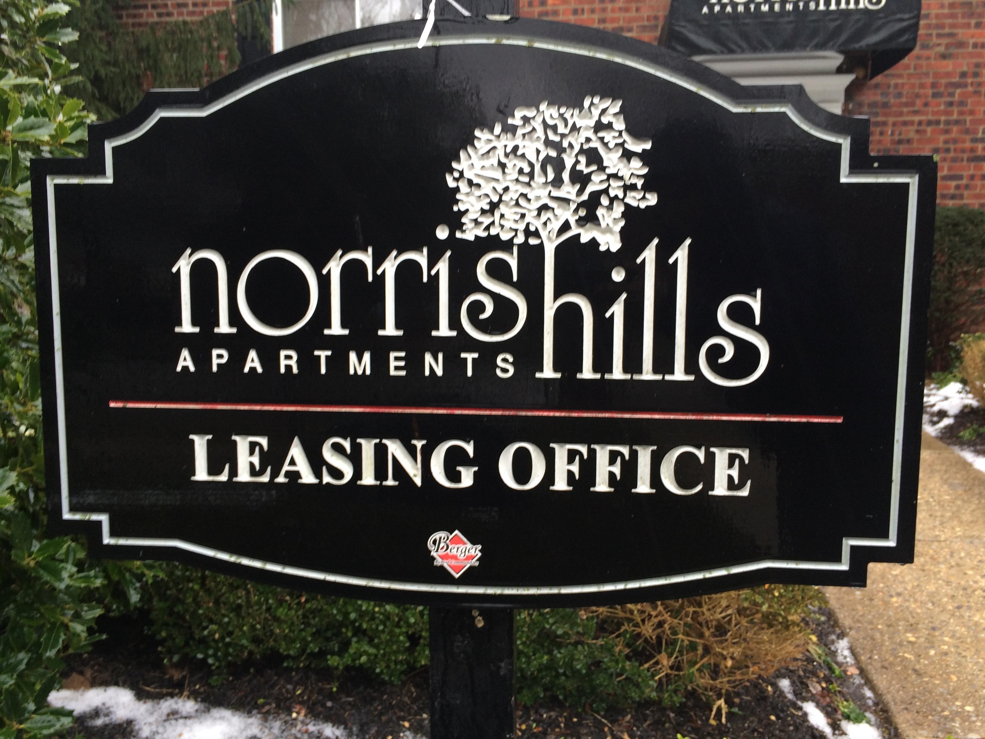 Carved Sign - Norris Hills