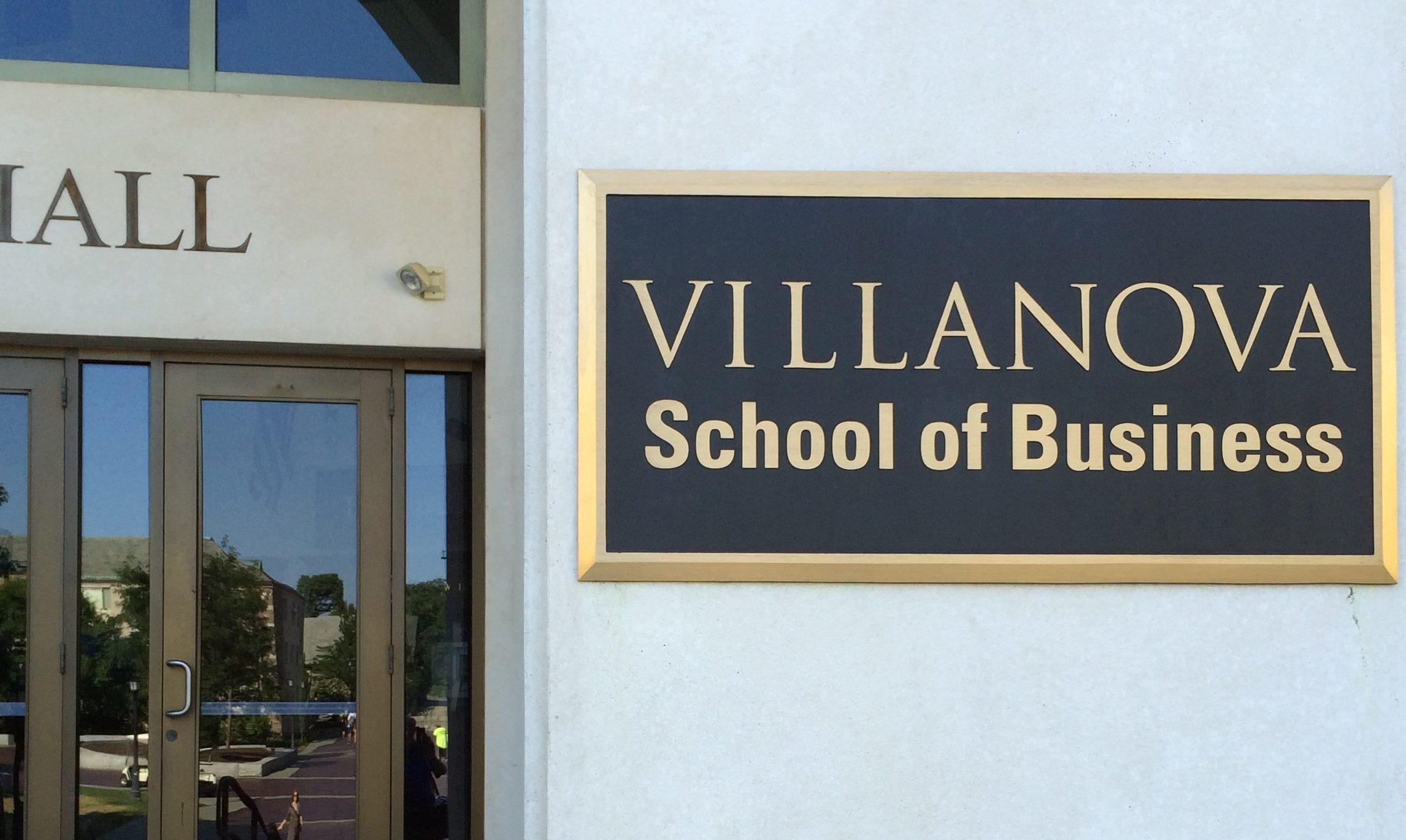 Plaque - Villanova School of Business