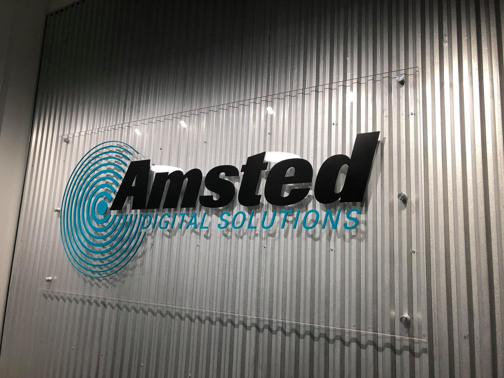Acrylic Panel wth Vinyl and Dimensional Letters - Amsted