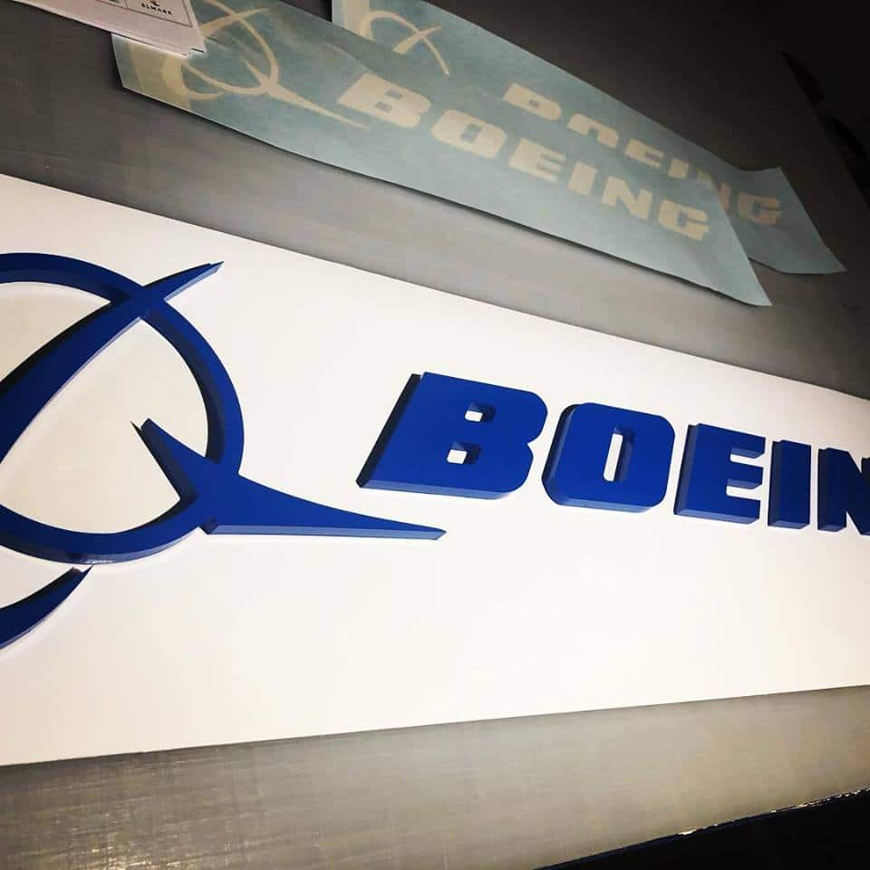 Dimensional Letters - Boeing