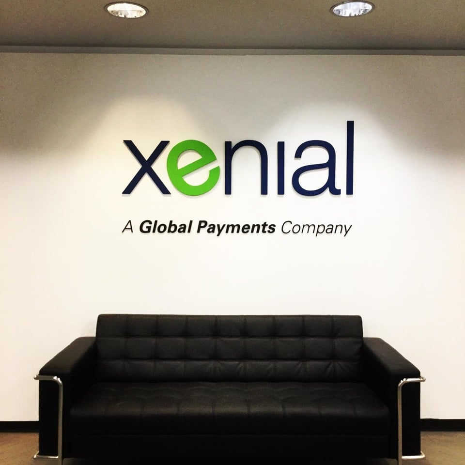 Dimensional Office Letters Sign - Xenial Global Payments