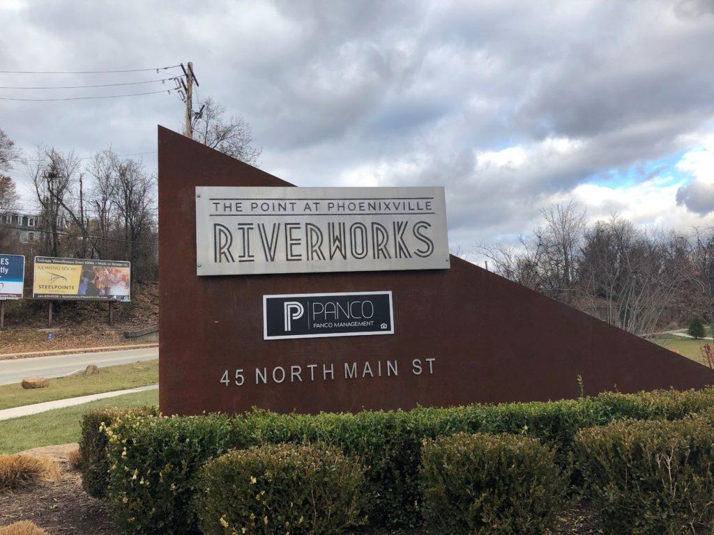 Monument Sign Phoenixville Riverworks