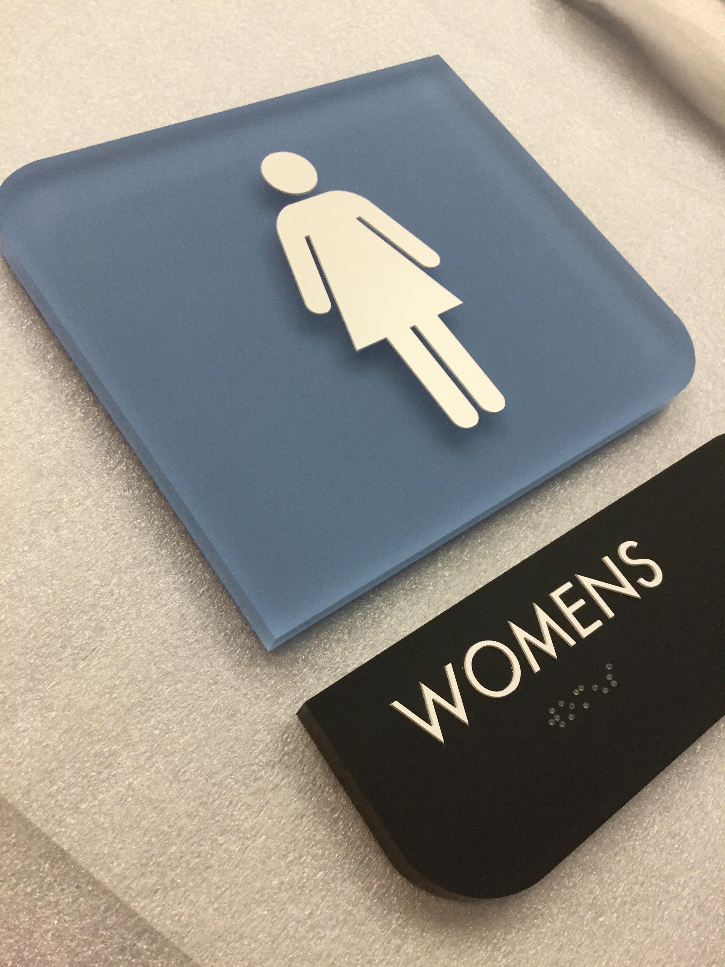 Acrylic ADA Restroom Sign