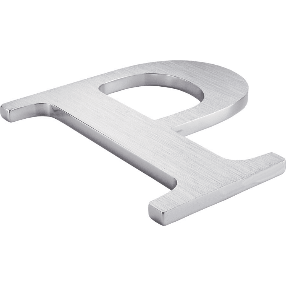 Brushed Aluminum Letter P